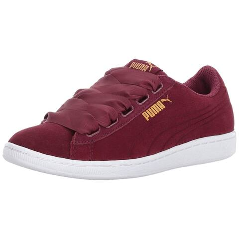 Puma Women's Shoes Vikky Ribbon S Suede Low Top Lace Up Fashion Sneakers