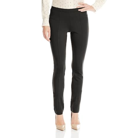 Nic + Zoe Womens Leggings Jet Black Size XS Pull-On Stretch Ponte Knit