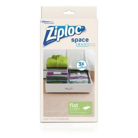 Ziploc 70422 Space Bag Flat Vacuum-Seal Bags, Large, 3-Count