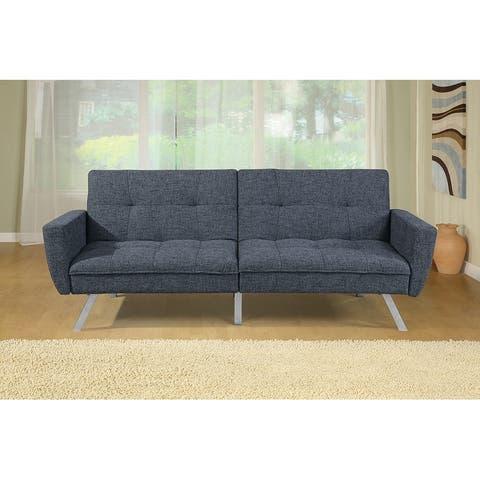 Linen Futon Adjustable Sofa