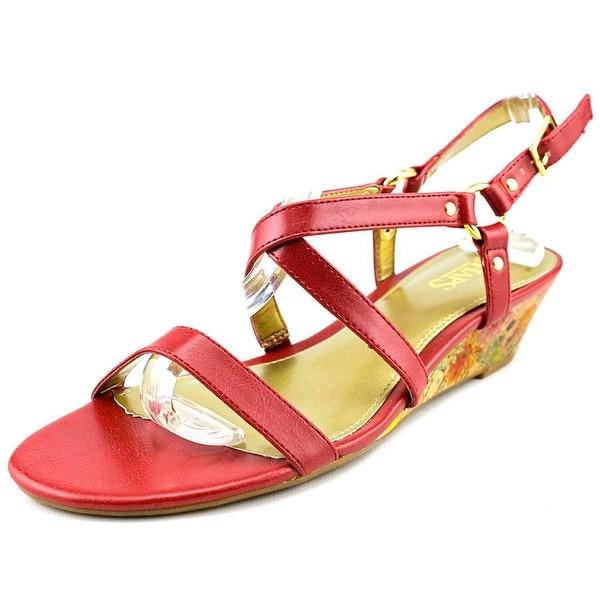 c24339e5753 Shop Chaps Mackenzee Women Open Toe Synthetic Wedge Sandal - Free ...