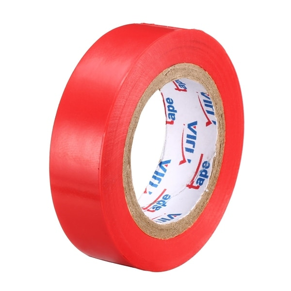 """PVC Electrical Insulating Tape Single Sided 21/32"""" Width 49ft 20mil Red - 20 mil Thick, Red"""