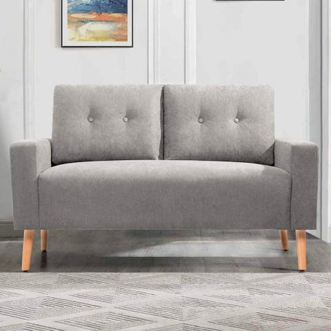 Homall Mid-Century Loveseat Button Tufted 2 Seater Sofa