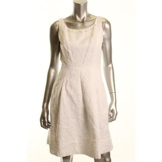 Jones New York Womens Petites Wear to Work Dress Jacquard Lined - 6P