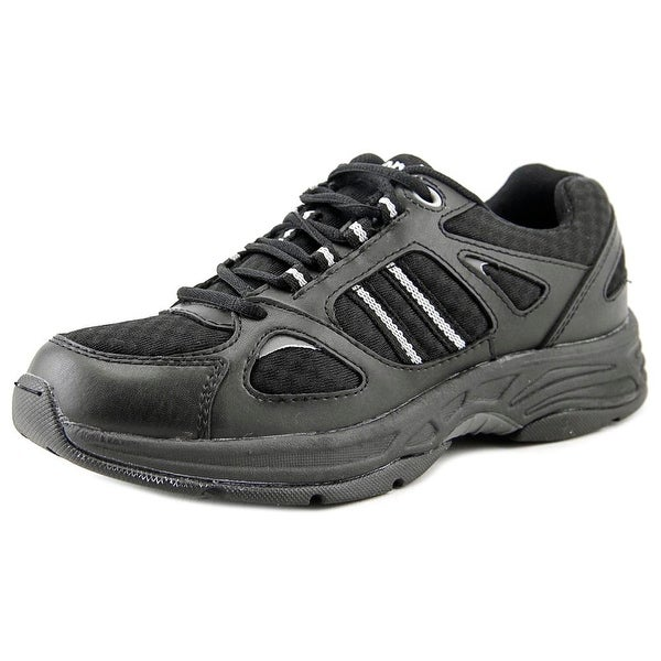 Propet Tasha Women N/S Round Toe Leather Black Tennis Shoe