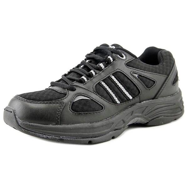 Propet Tasha Women 2A Round Toe Leather Black Tennis Shoe
