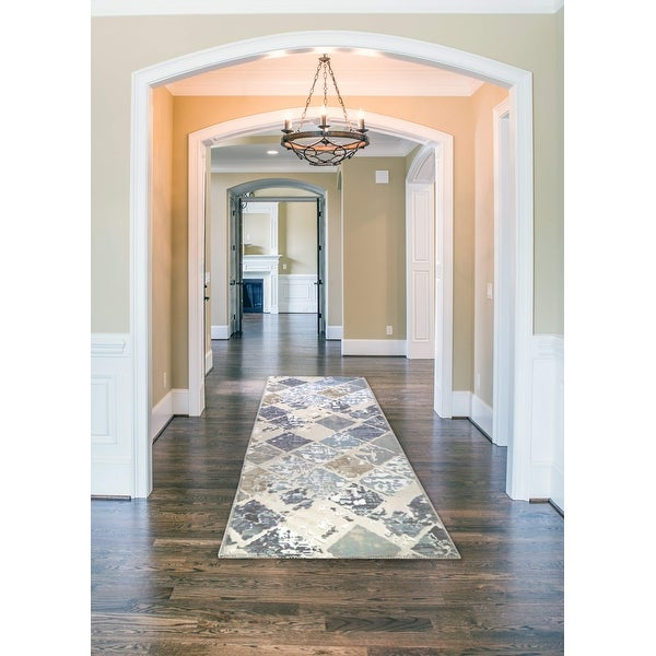 Newruz Collection Lotus Non-Slip Runner Rug. Opens flyout.