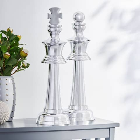 Elko Indoor Aluminum Handcrafted Decorative Chess Pieces by Christopher Knight Home