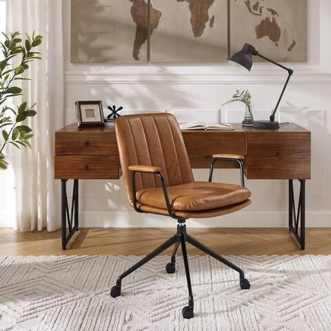Art Leon Mid-century Modern Swivel Accent Arm Chair