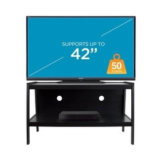 Mount-It! Wood TV Stand with Storage Shelf