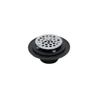 """PROFLO PF42959RD Chrome Cast Iron Round Shower Drain 2/"""" Ic Connection"""