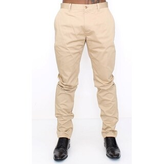 Dolce & Gabbana Beige Cotton Stretch Chinos Pants