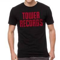 Tower Records Vintage Stack Men's Black T-shirt