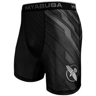 Hayabusa Metaru Charged MMA Compression Shorts - Black/Gray
