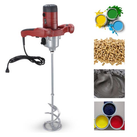 ARKSEN Electric Cement Grout Mortar Mixer, Variable 6 Speed, 1600W - standard
