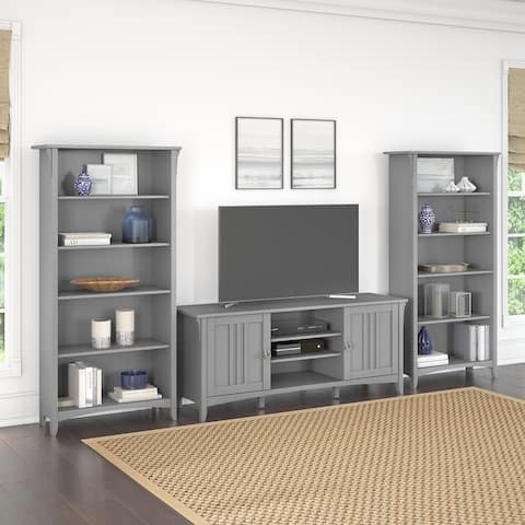 Salinas TV Stand with Set of 2 Bookcases by Bush Furniture