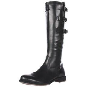 ECCO Women's Saunter GTX Tall 3 Buckle Flat Boot