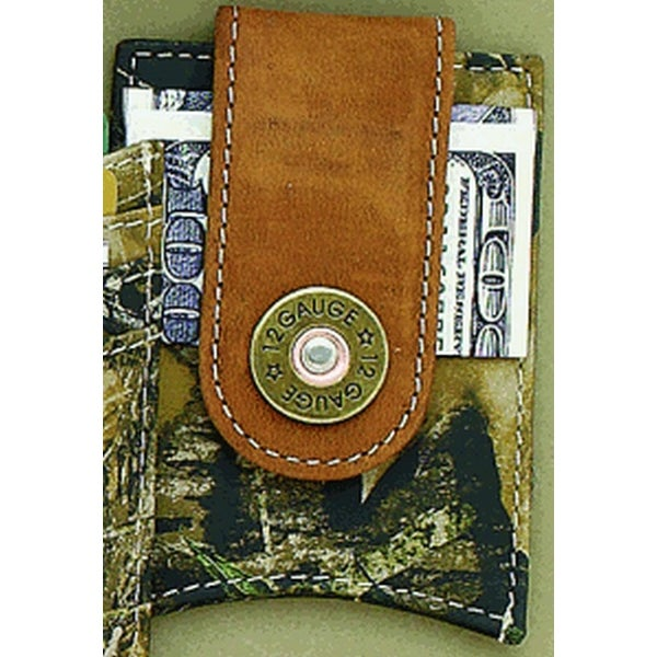 Nocona Western Wallet Mens Money Clip Shotgun Shell Camo - One size
