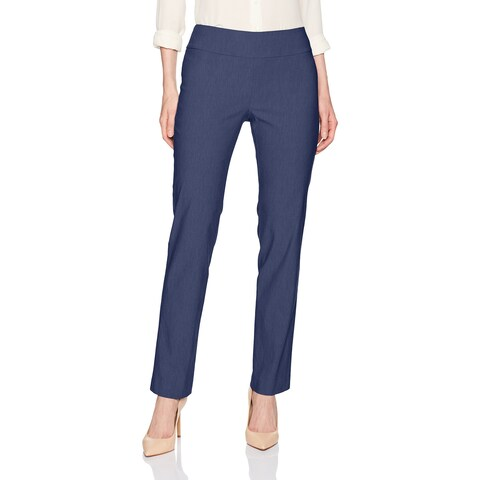 Nic + Zoe Blue Womens Size 4 Pull-On Wonderstretch Slim Dress Pants