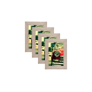 MDF Wood Picture Frames 4x6 with PVC Lens (Set of 4) LB1632
