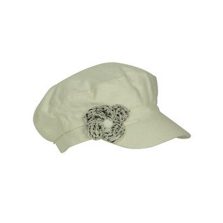 August Accessories Women's Wool Blend Floral Conductor Hat - os