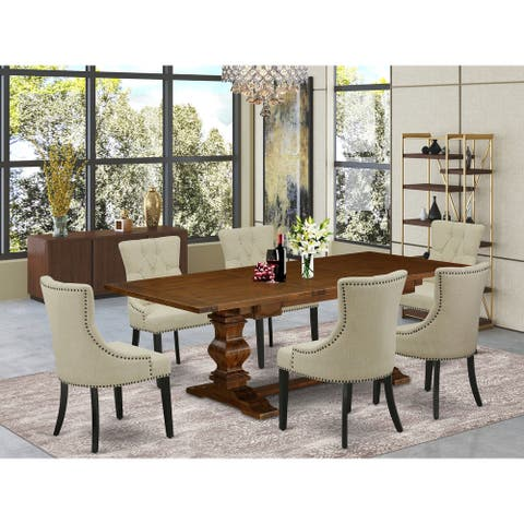East West Furniture This is glorious kitchen dinning sets with rectangle table and parson chairs