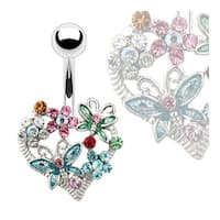 Heart/Flower Butterfly Bananabell Navel Belly Button Ring