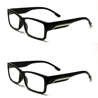 Classic Rectangle Reading Glasses 4 Pair Pack - Black