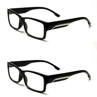 Classic Rectangle Reading Glasses 4 Pair Pack - Black