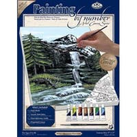"Mountain Waterfall - Paint By Number Kit Artist Canvas Series 9""X12"""