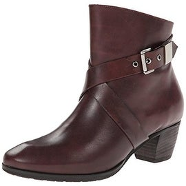 Fidji Womens Leather Belted Ankle Boots - 39.5 medium (b,m)