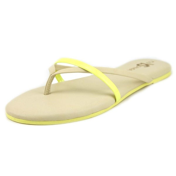 Yosi Samra River Two Tone Biscotti/Limette Sandals