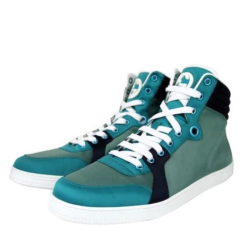 Gucci Men's High top Multicolor Satin Fabric Sneaker 337451 3663