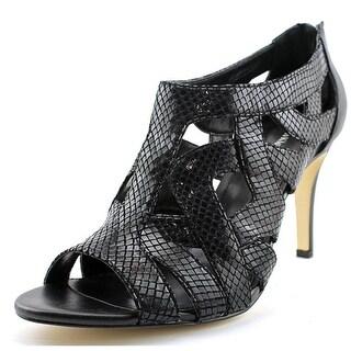 Calvin Klein Kiani Women Open Toe Leather Black Sandals