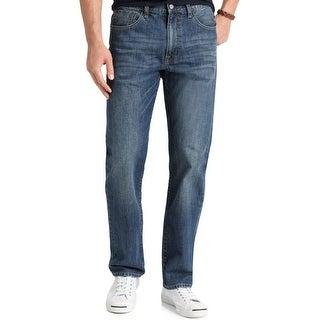 Izod Mens Straight Leg Jeans Vintage Wash Regular Fit - 40/30