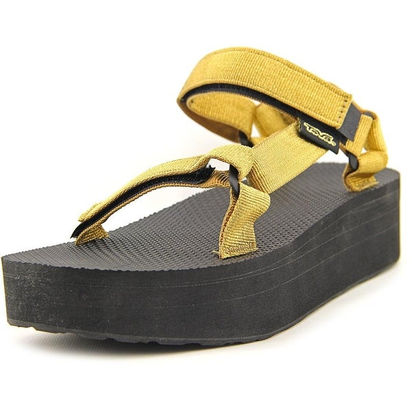 Teva Flatform Universal Women Gold Sandals
