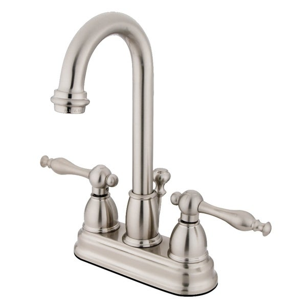 Kingston Brass KB361.NL Vintage 1.2 GPM Deck Mounted Bathroom Faucet with Lever Handles - Pop-Up Assembly Included