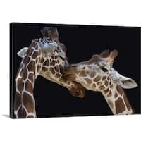 Manfred Foeger Premium Thick-Wrap Canvas entitled The Kiss - Multi-color