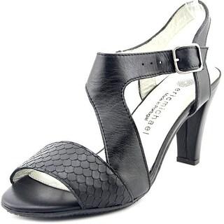Eric Michael Havana Women Open Toe Leather Black Sandals