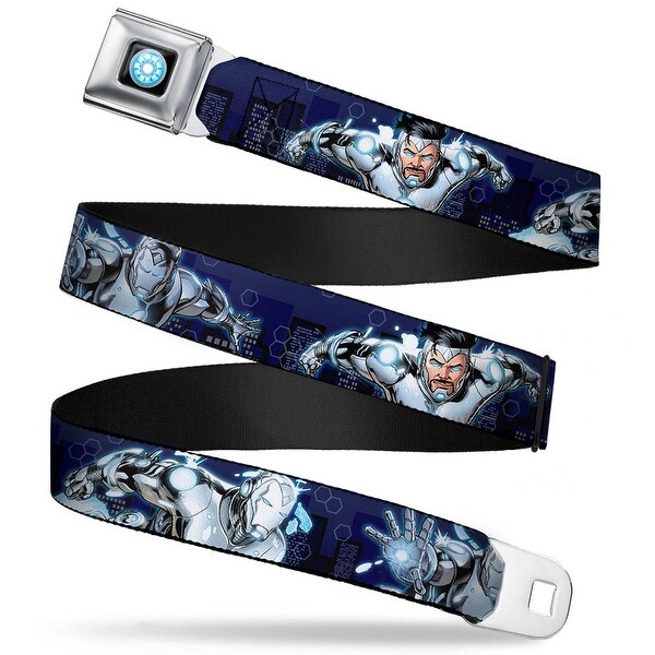 Marvel Universe Iron Man Arc Reactor Full Color Superior Iron Man 3 Flying Seatbelt Belt