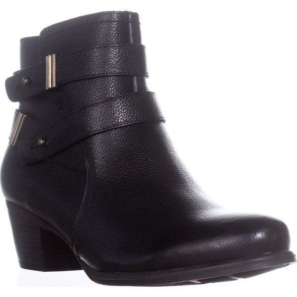 naturalizer Kepler Block Heel Ankle Boots, Black Leather