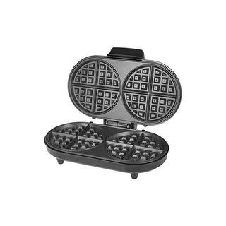 Kalorik WM-42281-BK Black and Stainless Steel Double Belgian Waffle Maker