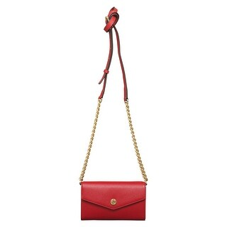 Michael Kors Red Leather Crossbody Bag Clutch for Apple iPhone