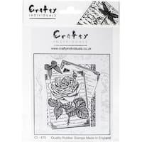"Crafty Individuals Unmounted Rubber Stamp 4.75""X7"" Pkg-Rambling Rose"