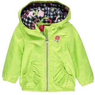 London Fog Girls 2T-4T Midweight Fleece Lined Jacket - Green