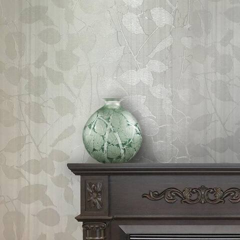 Wallpaper white gray Textured grape Tree lines striped - 27 inc x 33 ft