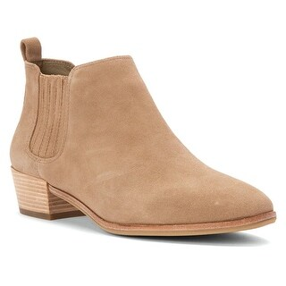 MICHAEL Michael Kors Womens Shaw Leather Closed Toe Ankle Fashion Boots