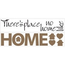 "Roommates RMK1397SCS No Place Like Home Wall Decals, 10"" x 18"""