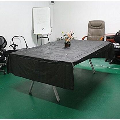 shop agptek disposable plastic table cover 54 by 108 inch 137cm 274cm black free shipping on. Black Bedroom Furniture Sets. Home Design Ideas