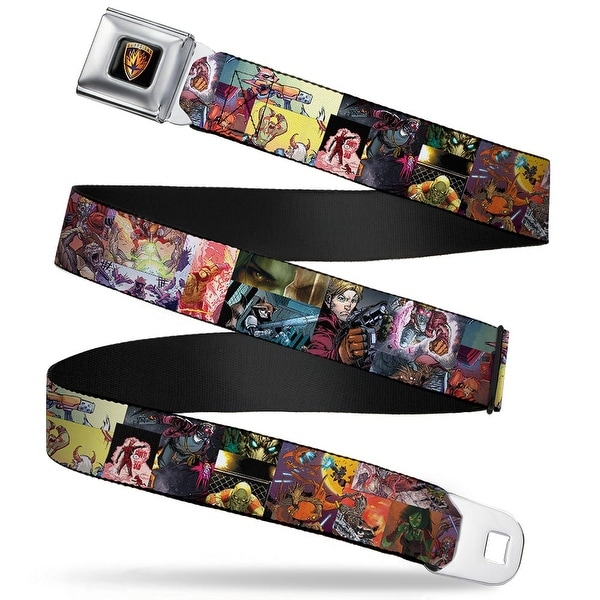 Guardians Of The Galaxy Evergreen Guardians Badge Full Color Black Gold Seatbelt Belt